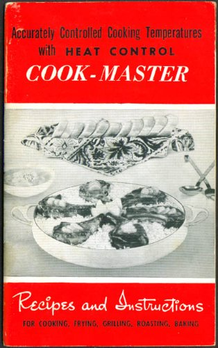 Cook-Master Electric Frying Pan Instructions Booklet 1950S