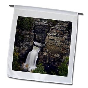 Danita Delimont - Waterfalls - Linville Waterfalls, Pisgah National Forest, NC - US34 AJE0120 - Adam Jones - 12 x 18 inch Garden Flag (fl_93181_1)