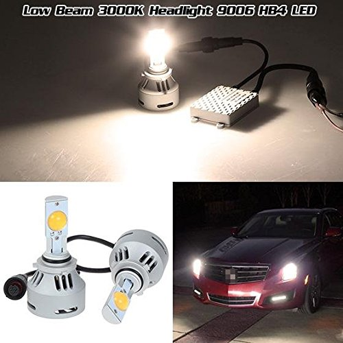 Partsam 2pcs HB4 9006 White Cree-MTG2 High Power 80W 6400LM LED bulbs for low beam headlight (2004 Srx Headlight Assembly compare prices)