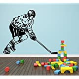 Decal Style Hockey Wall Sticker Small Size-18*15 Inch