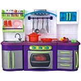 QUN FENG Mini Toy Kitchen Playset With Lights And Sound Perfect For Use With Dolls