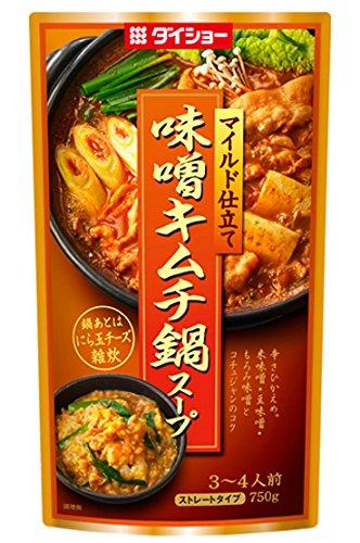 味噌キムチ鍋スープ 750g×2本