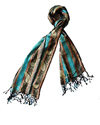Special Offer - Red Bird Fashion Women's silk stole_RBF-SNC-09_Multi-Coloured_Fr...