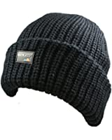 Mens Ladies Superb High Insulation Thinsulate fleece lined ROCKJOCK knitted winter beanie ski hat - Tog Rated