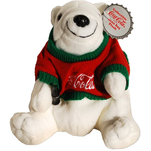 #0116 Coca-Cola Polar Bear Wearing a Red and