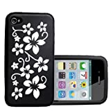 Yousave Accessories AP-GA01-Z133 Etui en silicone pour iPhone 4/4S Noir/Blancpar Yousave Accessories