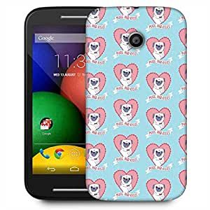 Snoogg Pugs And Kisses Cute Designer Protective Phone Back Case Cover For Motorola E / Moto E