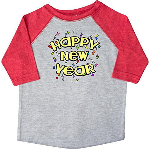 Inktastic Little Boys' Happy New Year Toddler T-Shirt 4T Heather and Red