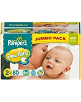 Pampers - 81367661 - New Baby Couches - Taille 2 - 3-6 kg - Jumbopack x 80 Couches