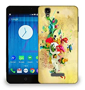 Snoogg Paint Splash Printed Protective Phone Back Case Cover For Micromax Yu Yureka