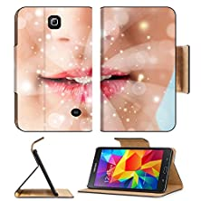 buy Msd Premium Samsung Galaxy Tab 4 7.0 Inch Flip Pu Leather Wallet Case Pretty Woman Lips Blowing Abstract White Lights Close Up Image Id 23736928