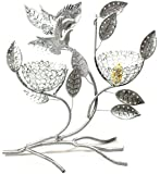 Bejeweled Display® Two Bird Nest w/ Bird Jewelry Tree Earring Holder Necklace Organizer Display (Antique Silver)