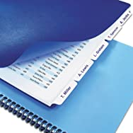 Customizable Index Tabs For Binding Systems, 5-Tab, Letter, White