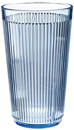 Carlisle 401254 Crystalon Stack-All Tumbler, 12 oz, Blue, Plastic (Case of 48)