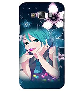 PrintDhaba Lovely Girl D-3050 Back Case Cover for SAMSUNG GALAXY A7 (Multi-Coloured)