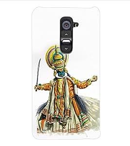 ColourCraft Kathakali Dance Back Case Cover for LG G2