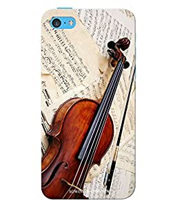 Sowing Happiness Printed Back Cover For Iphone 5C