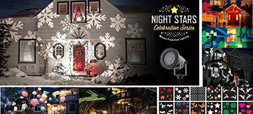 Home / Christmas Lights / Motion Laser Lights / Night Stars ... - Night Stars Celebration Series LED Image Motion Projection Light W