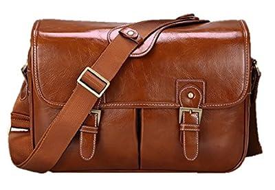 DSLR Camera Bag Vintage fashionable PU Leather Shoulder Messenger Bag for Canon Sony Nikon Canon Olympus