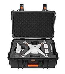 Koozam NEW DJI Phantom 3 Compact Rugged Military Grade Waterproof Case designed to fit the Phantom 3 Professional, and Advanced Edition Drones