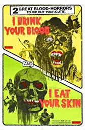 I Drink Your Blood I Eat Your Skin Movie Poster Home Theater Decor Metal Tin Sign Wall Art Collection 8 inches x 12 inches