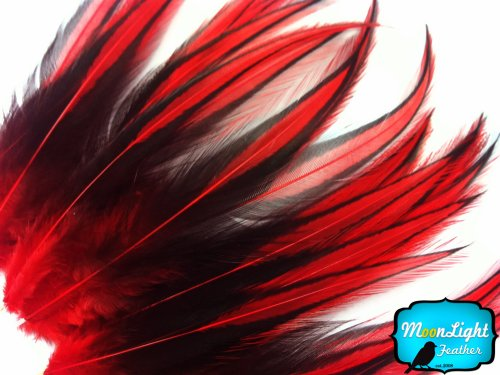 rooster-feathers-red-laced-rooster-cape-feathers-2-to-4-inches-long-10-pieces