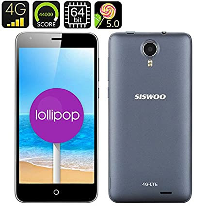 Siswoo i7 Cooper - Smartphone 4G Android 5.1 / 64 Bits / Écran HD 5 pouces / App. photo 8MP / CPU Octa Core 1.5GHz / Dual SIM