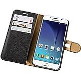 """Flashstar Tasche für Samsung Galaxy S6 """"Bookstyle"""" (mit Standfunktion und Kartenfächern) schwarz"""