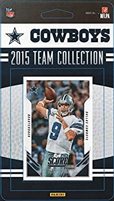 Dallas Cowboys 2015 Score Factory Sealed NFL Football 16 Card Team Set Including Tony Romo, Dez Bryant, Sean Lee Plus