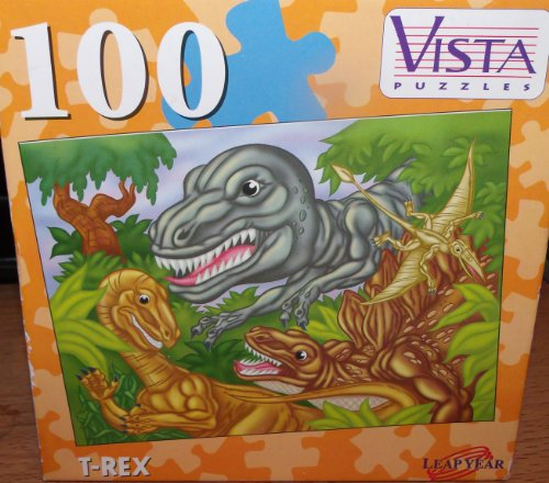 T-Rex Leap Year Vista Puzzle 100 Pieces 3+ Years Old - 1