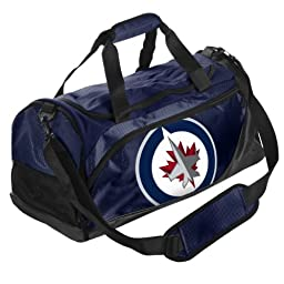 Forever Collectibles NHL Winnipeg Jets Small Locker Room Duffle Bag