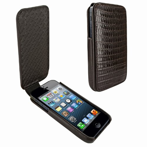 Best Price Apple iPhone 5 / 5S Piel Frama iMagnum Brown Lizard Leather Cover