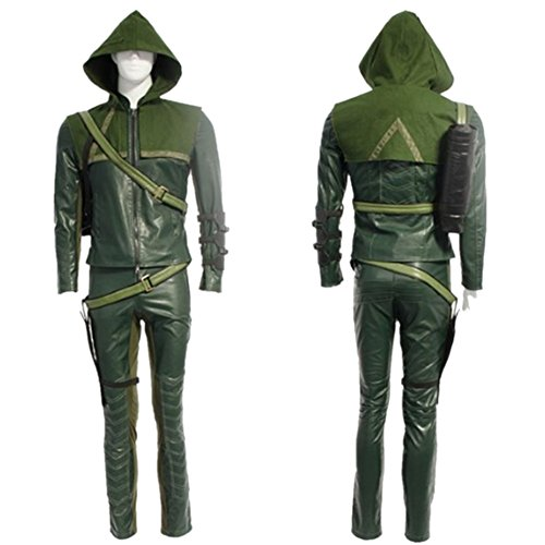 Starkma Green Arrow Man Oliver Queen Cosplay Costume Halloween