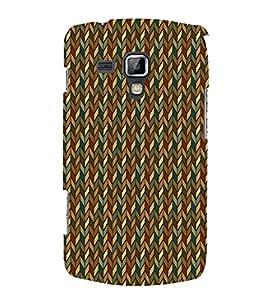 Diamond Chevron 3D Hard Polycarbonate Designer Back Case Cover for Samsung Galaxy S Duos S7562