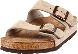 Birkenstock Unisex Arizona Soft Footbed Sandal,Taupe Suede,41 M EU