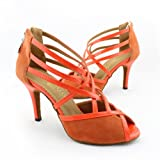 2013 new Msmushroom Latin Dance shoes for adult woman shining orange fashion style for party and wedding 3