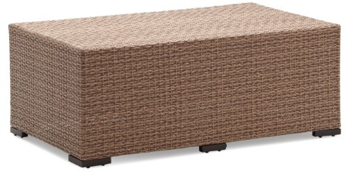 Strathwood Griffen All-Weather Wicker Coffee Table, Natural