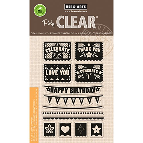 """Hero Arts Clear Stamps 4""""X6"""" Sheet-Papel Picado Banners"""