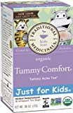Traditional Medicinals Just for Kids Organic Tummy Comfort Herbal Tea,18-Count Wrapped Tea Bags (Pack of 6)