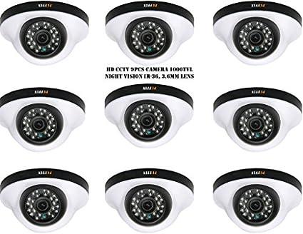 Puffin S28330-9 1000TVL Night Vision Dome Camera (9 PCs)