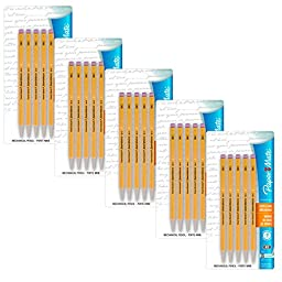 Paper Mate Sharpwriter Mechanical Pencils, 0.7 Mm, Yellow, Pack of 25