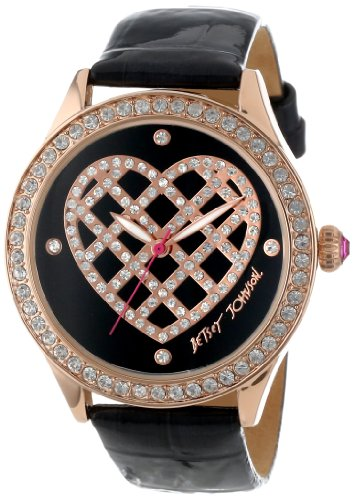 Betsey Johnson Women's BJ00131-17 Analog Quilted Heart Dial Watch