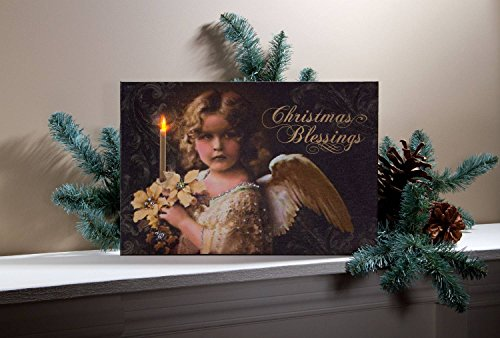 """Ohio Wholesale Christmas Blessing Lighted Canvas 9.75"""" X 14.5"""""""