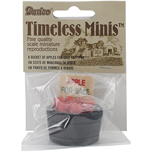 Darice Timeless Miniatures, Bucket of Apples