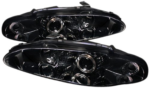 Spyder Auto PRO-YD-ME95-HL-SMC Mitsubishi Eclipse Smoke Halo Projector Headlight (95 Eclipse Headlight Assembly compare prices)