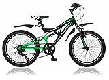 20 Zoll Kinderfahrrad Mountainbike Shimano 6 Gang Vollgefedert Fahrrad Jugendfahrrad