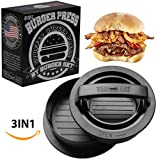 Burger Press with Recipe eBook, Different Size Patty Molds and Non Sticking...