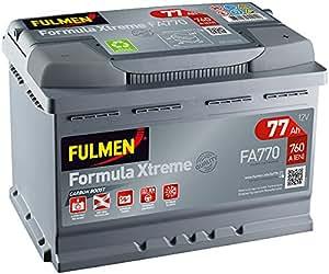fulmen batterie voiture fa770 12v 77ah 760a batterie s. Black Bedroom Furniture Sets. Home Design Ideas