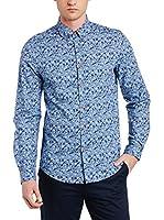 Ben Sherman Camisa Hombre (Azul)