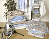 Large Gusseted Vacuum Clothes Storage Bags - 80x100x32cm - Set of 4 by H&L Russel